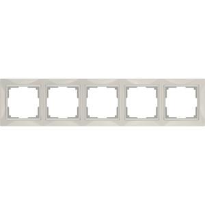 Рамка Werkel Snabb Basic на 5 постов слоновая кость WL03-Frame-04