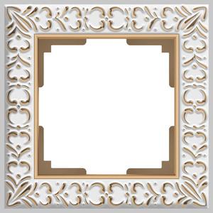 Рамка Werkel Antik на 1 пост белое золото WL07-Frame-01