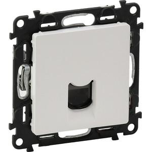 Розетка Ethernet RJ-45 Legrand Valena Life 5 кат UTP белая 753440 розетка legrand mosaic dlp с суппортом для крышки 65мм 2xrj45 кат 5e ftp 78673
