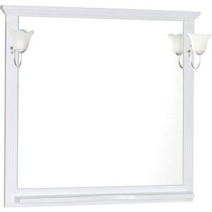 Зеркало с полкой Aquanet Лагуна 120 белое (175303)