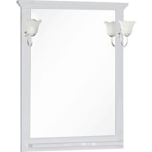 Зеркало с полкой Aquanet Лагуна 75 белое (175306)
