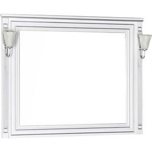 Зеркало Aquanet Паола 120 белое/серебро (181768)