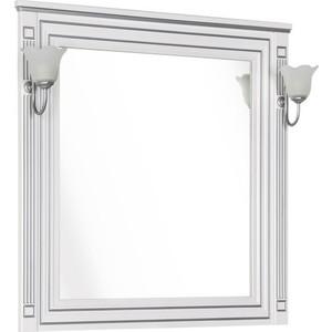 Зеркало Aquanet Паола 90 белое/серебро (181769)