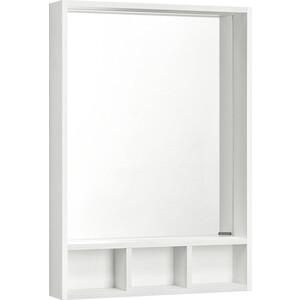 Зеркало с полкой Акватон Йорк 60 белый/выбеленное дерево (1A170102YOAY0)