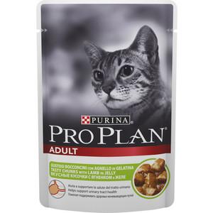 Паучи PRO PLAN Adult Cat Chunks with Lamb in Jelly кусочки в желе с ягненком для кошек 85г (12287095)