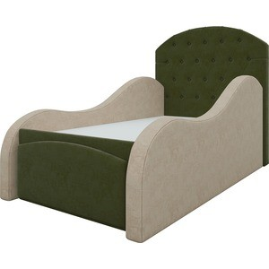 Детская кровать АртМебель Майя микровельвет зелено-бежевый велогибрид kupper unicorn зелено черный