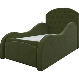 Детская кровать АртМебель Майя микровельвет зеленый