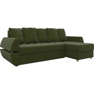 Диван угловой Мебелико Атлант УТ микровельвет зеленый правый фото
