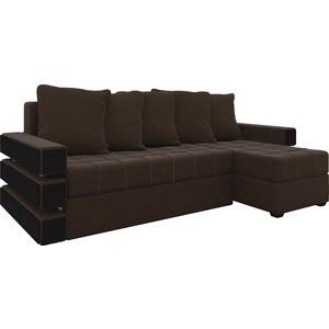 Диван угловой Мебелико Венеция микровельвет Коричневый правый диван угловой мебелико венеция микровельвет красно черный правый