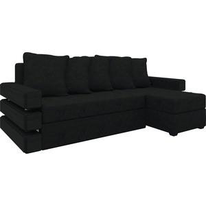 Диван угловой Мебелико Венеция микровельвет черный правый диван угловой мебелико венеция микровельвет красно черный правый