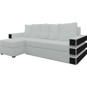 Диван угловой Мебелико Венеция эко-кожа белый левый угловой диван мебелико камелот эко кожа белый левый угол