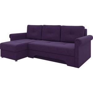 Диван угловой АртМебель Гранд микровельвет фиолетовый левый диван угловой артмебель гранд микровельвет коричневый левый