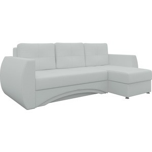 Диван угловой Мебелико Сатурн эко-кожа белый правый диван угловой мебелико атлантис эко кожа белый правый