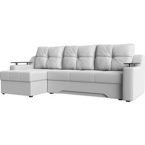 Диван угловой Мебелико Сенатор НПБ эко-кожа белый левый угловой диван мебелико камелот эко кожа белый левый угол