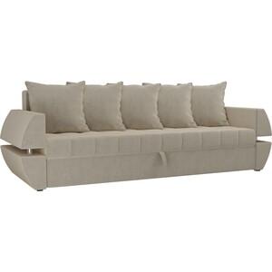 Диван-еврокнижка Мебелико Атлант Т микровельвет бежевый диван еврокнижка мебелико атлант т микровельвет зелено бежевый