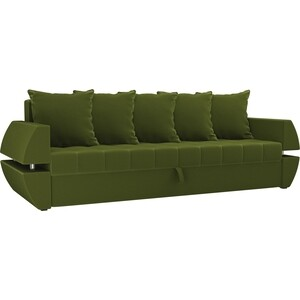 Диван-еврокнижка Мебелико Атлант Т микровельвет зеленый диван еврокнижка мебелико ник 2 микровельвет зеленый