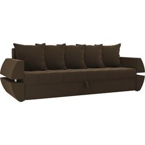 Диван-еврокнижка Мебелико Атлант Т микровельвет Коричневый диван еврокнижка мебелико атлант т микровельвет зелено бежевый