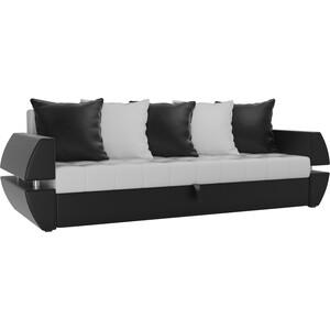 Диван-еврокнижка Мебелико Атлант Т эко-кожа бело-черный кушетка мебелико принц эко кожа бело черный левый