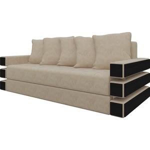 Диван-еврокнижка Мебелико Венеция микровельвет бежевый диван еврокнижка мебелико венеция микровельвет зелено бежевый