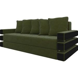 Диван-еврокнижка Мебелико Венеция микровельвет зеленый диван еврокнижка мебелико ник 2 микровельвет зеленый