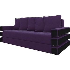 Диван-еврокнижка АртМебель Венеция микровельвет фиолетовый