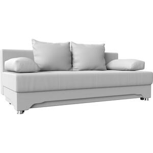 Диван-еврокнижка Мебелико Ник-2 эко-кожа белый