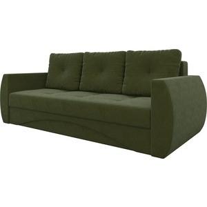 Диван-еврокнижка Мебелико Сатурн микровельвет зеленый диван еврокнижка мебелико ник 2 микровельвет зеленый