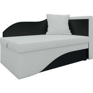 Кушетка АртМебель Грация эко-кожа бело-черный правый кушетка мебелико принц эко кожа бело черный левый