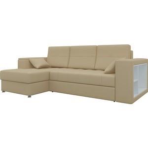 Диван угловой Мебелико Атлантис эко-кожа бежевый левый диван угловой мебелико атлантис эко кожа белый правый