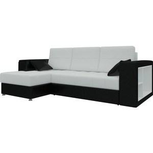 Диван угловой Мебелико Атлантис эко-кожа бело-черный левый цена