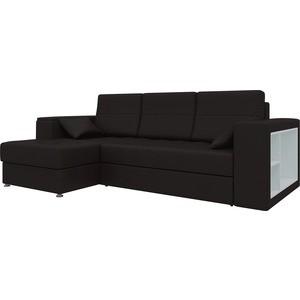 Диван угловой Мебелико Атлантис эко-кожа Коричневый левый диван угловой мебелико атлантис эко кожа белый правый
