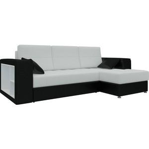 Диван угловой Мебелико Атлантис эко-кожа бело-черный правый диван угловой мебелико атлантис эко кожа белый правый