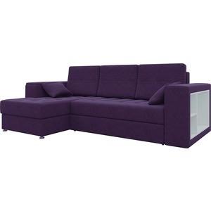Диван угловой АртМебель Атлантис микровельвет фиолетовый левый цена