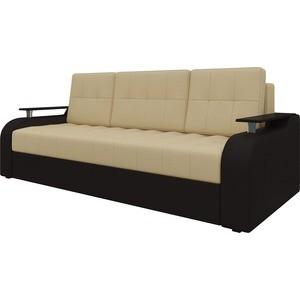 Диван-еврокнижка Мебелико Ричард эко-кожа бежево-коричневый диван мебелико малютка эко кожа бежево коричневый