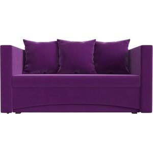 все цены на Кушетка АртМебель Принц микровельвет фиолетовый правый онлайн