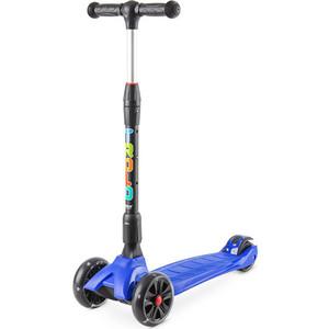 Самокат 3-х колесный Trolo Rapid со светящимися колесами Синий (141606) trolo trolo детский самокат со светящимися колесами rapid складной синий