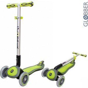 Самокат 3-х колесный Globber 446-106 ELITE S My Free Fold up GREEN