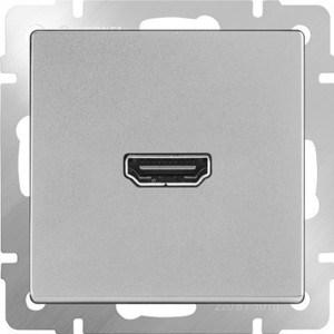 Розетка HDMI Werkel серебряная WL06-60-11