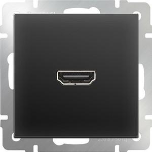 лучшая цена Розетка HDMI Werkel Розетка HDMI черная матовая WL08-60-11