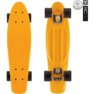 Скейтборд RT 401-O Fishskateboard 22 винил 56,6х15 с сумкой ORANGE/black