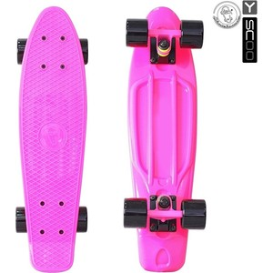 Скейтборд RT 401-P Fishskateboard 22 винил 56,6х15 с сумкой PINK/black