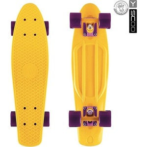 Скейтборд RT 401-Y Fishskateboard 22 винил 56,6х15 с сумкой YELLOW/dark purple