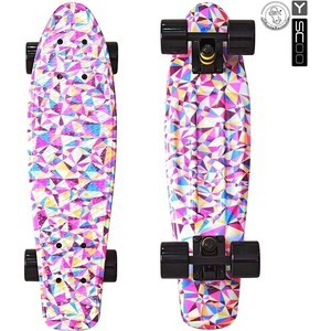 Скейтборд RT 401G-R Fishskateboard Print 22 винил 56,6х15 с сумкой Rhombus