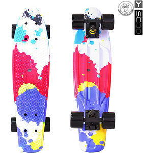 Скейтборд RT 401G-Sp Fishskateboard Print 22 винил 56,6х15 с сумкой Splatter