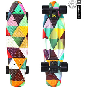 Скейтборд RT 401G-T Fishskateboard Print 22 винил 56,6х15 с сумкой Triddent