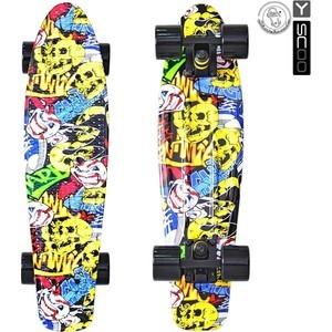 Скейтборд RT 401G-С Fishskateboard Print 22 винил 56,6х15 с сумкой Cartoon boys cartoon dog print tee