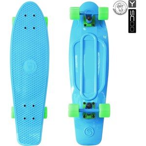 Скейтборд RT 402-B Big Fishskateboard 27 винил 68,6х19 с сумкой BLUE/green