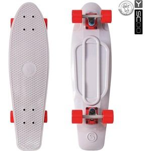 Скейтборд RT 402-Gr Big Fishskateboard 27 винил 68,6х19 с сумкой GREY/red