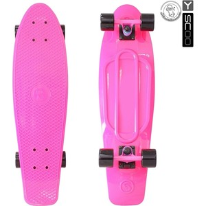 Скейтборд RT 402-P Big Fishskateboard 27 винил 68,6х19 с сумкой PINK/black