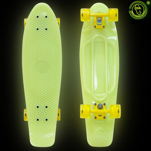 Скейтборд RT 402E-Y Big Fishskateboard GLOW 27 винил 68,6х19 с сумкой YELLOW/yellow